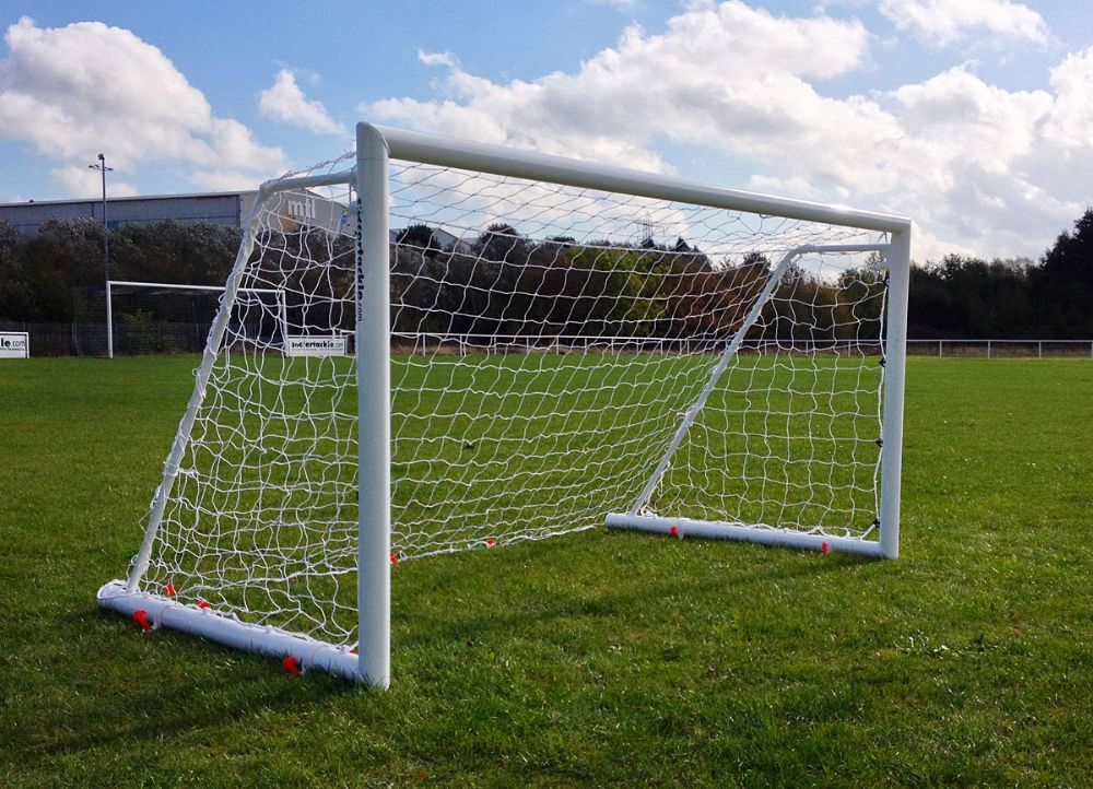 ALUMINIUM FOLDING GOAL - 8'x6'- 80MM LOCKABLE-PAIR OF GOAL - 8 x 6